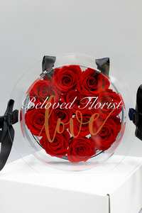 11 Red Preserved Roses with Fancy Box